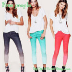 Dip Dye 5 Pocket Skinny Jeans by Free people