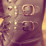 New Leather Lace Up Boots