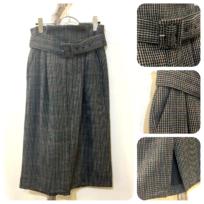 ガンクラブチェック&スエードスカート2型