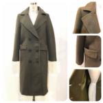 暖かいウールコート3型