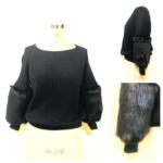 ファー付セーターとファーティペット