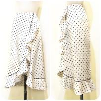 ドット&フラワーモチーフスカート2型
