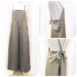 サロペット&リボンナロースカート