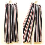 ストライプワイドパンツ&ボタンダウンスカート