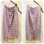 チェック柄スカート2型
