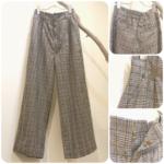 グレンチェックワイドパンツ&スカート2型