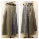 切替フレアスカート&別珍ナロースカート2型