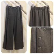 ヘリンボーンボタンパンツ&スカート