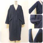 ノーカラーコート&暖かメルトンスカート2型