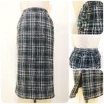 ツイードナロースカート&モヘアタッチセーター