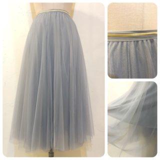 チュール&アコーディオンプリーツスカート2型