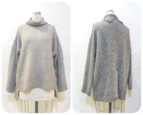 タートルバックスリット&ショート丈セーター