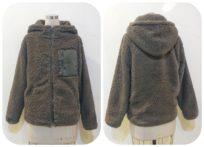 ボアフリース・フード付きジャケット