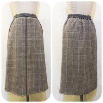 レザーパイピング・スカート&80Dタイツ